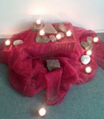 Trauergruppe2015-Kerzen-Kapelle