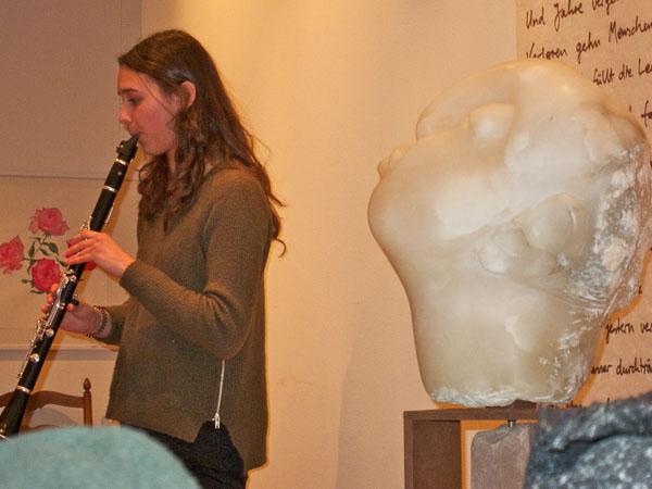 Die Klarinettistin Anna Feder